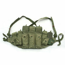 VIETNAM WAR CHINESE TYPE 56 CHEST RIG AMMO POUCH BANDOLIER ORIGINAL COLLECTIBLES