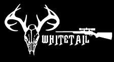 Skull deer decal hunting car truck window vinyl sticker Bow Hunting