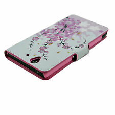 Pink Leather Magnetic Credit Card Cover Case For Sony Ericsson Xperia Z L36H