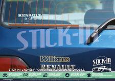 Renault années 90- Autocollant lunette arrière stickers twingo sport megane clio