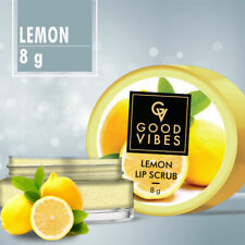 Good Vibes Lip Scrub - Lemon (8 g) Nourishes and Moisturize Lips Free shipping