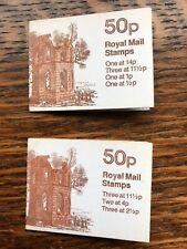 Gb January 1981 Folded Stamp Booklets Pair Complete