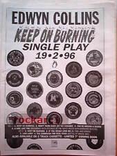 "EDWYN COLLINS Keep On Burning1995 UK Poster size Press ADVERT 16x12"""