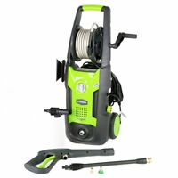 GreenWorks GPW1702 1,700-Psi Vertical Pressure Washer w/ Hose Reel -  5100402