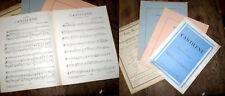 lot de 4 partitions pour haubois et piano cantilène gambade miniature gavotte