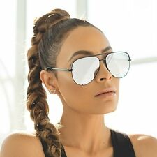 "QUAY AUSTRALIA  X DESI PERKINS BLACK/SILVER ""HIGH KEY"" MIRROR SUNGLASSES NEW"
