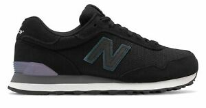 New Balance Women's 515 Classic Shoes Black with Purple