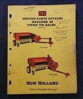 "GENUINE 1968 NEW HOLLAND ""HAYLINER 68 TWINE-TIE BALER"" PARTS CATALOG MANUAL NICE"