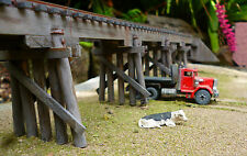 HO NSWGR 125 ft Standard Wood  Trestle Bridge +++painted and ready to install