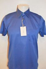 BRIONI Mans 3 Button Up Premium Polo Shirt NEW Size Small Retail $468 Made ITALY