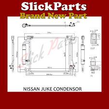 NISSAN PULSAR AIR CON CONDENSOR 1.2 DIG 1.5 DCi  2014 >