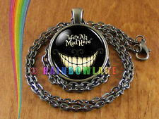 Alice in Wonderland We're All Mad Here Necklace Pendant Jewelry Charm Gift