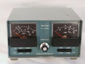 Heathkit HM-2140 HF Power/SWR Meter 1.8-30Mhz 200/2000 Watt Scales