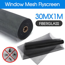 Roll Insect Flywire Window Fly Screen Net Mesh Flyscreen Black 100FT / 30M