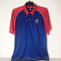 MLB Chicago Cubs Athletic Red/ Blue Polo Mens Large MLB Genuine Merchandise