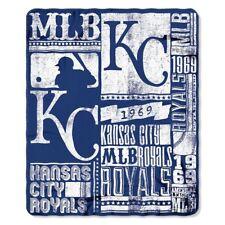 "Kansas City Royals MLB Northwest 50""x60"" Strength Fleece Throw Blanket FREE"