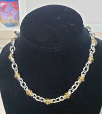 """NEW SILVER TONE GOLD TONE 15"""" CHOKER CHAIN LINK NECKLACE UNISEX"""