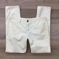 J Brand Women's Cotton Pants Inez SF Citrus Size 28 Actual W33 L30.5 (BF7)
