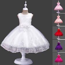 Vestito Bambina Abito Cerimonia Pailettes Girl Party Roses Princess Dress CDR076