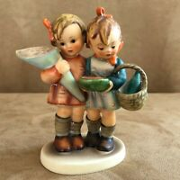 Going to Grandmas Hummel Goebel Figurine 52 / 0 sisters flowers grandmother girl