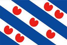 FRYSLAN BLUE & WHITE STRIPE FLAG IN 5X3 - HOLLAND DUTCH PROVENCE FLAG STRIPE