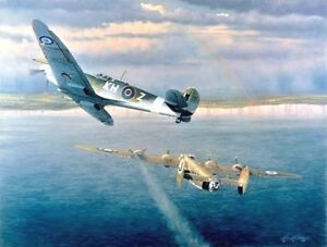 Welcome Home Yank [Spitfire B-24] CANVAS William S Phillips RCAF / USAAF 453rdBG