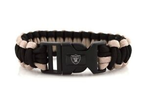 NFL Oakland Raiders Survival Cord Bracelet