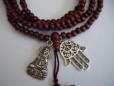 "Spiritual Unisex 40"" Mala Necklace Stacking Bracelet Kuan Yin Yoga Cosmic Love"
