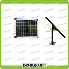 Kit Pannello Solare fotovoltaico 10W 12V Supporto fissaggio Regolabile EJ