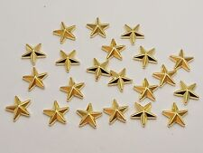 100 Gold Tone Acrylic Star Studs 14mm No Hole Cabochon Phone Deco