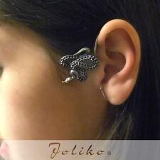 JoliKo Ohklemme Ohrringe Ear cuff Punk Gothic Schlange Python Reptilien RECHTS