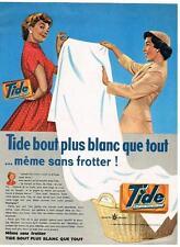 PUBLICITE ADVERTISING  1958   TIDE   lessive