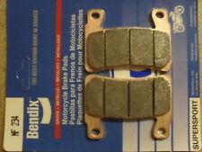 BENDIX 234-MF CB 1300 R 2004 HIGH PERFORMANCE SINTERED FRONT CALIPER BRAKE PADS
