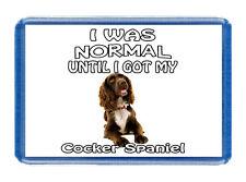 I Was Normal... Cocker Spaniel - Pet Fridge Magnet - Large Size (7cm x 4.5cm)