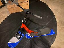 Snow Scooter Hybrid with Metal Edges - New - Orange Frame & Blue/Grey Boards