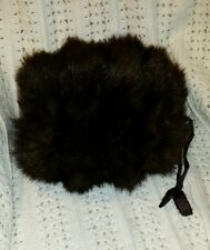 Gorgeous Vintage Mink Hand Warmer or Muff Cushy Satin Lining beautiful