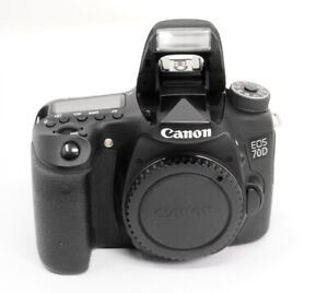 CANON EOS 70 D CAMERA BODY 2 BATTERIES, CHARGER  TESTED Shutter #7613