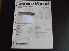 Original Service Manual Technics SL-E10
