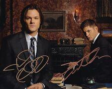 PREPRINT * Jensen Ackles & Jared Padalecki SPN signed 8x10 autograph photo