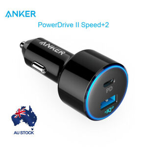 Anker Car Charger 49.5W PowerDrive Speed+ 2 Car Adapter 30W for C port