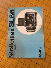 Rollei Rolleiflex SL66 In Practical Use Camera Instruction Book / Manual (Blue)