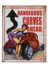 segno del metallo Dangerous curves ahead PIN-UP NASO art. HOT Asta V8 ROCKN