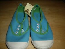 NEW Girls Size 11 Gap Marakesh Slip On Canvas Shoes Blue Green