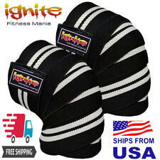 Knee Wraps strapes Weight Lifting Bandage Straps Guard Pads Sleeves Powerlifting