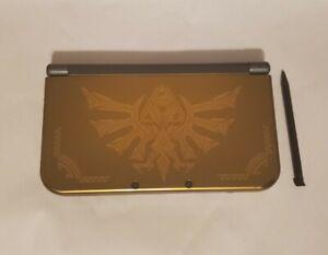 New Nintendo 3DS XL Hyrule Edition TN Screens Legend of Zelda Gold Scratched