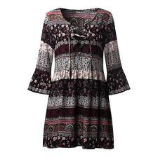 Plus Size Women Boho Long Maxi Dress Floral Summer Party Evening Beach Sundress