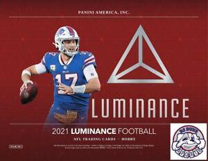 Sage Surratt 2021 Panini Luminance Football Case 12Box Break
