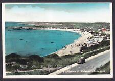 TARANTO PULSANO 01 MARINA DI PULSANO SPIAGGIA BAGNI Cartolina FOTOGR. viagg 1959