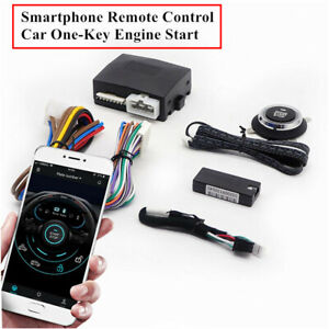 Car One-Key Start Stop Button Bluetooth Smart Start System App Central Locking