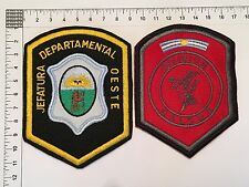 2 ORIGINAL POLICE OESTE SWAT HALCON PATCHES COLLECTION PATCH ARGENTINA 80s 90s